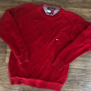 Tommy Hilfiger red pull over sweater